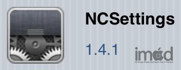 รีวิวการใช้งาน Ncsettings จาก Cydia Sbsettings ทางเลือก