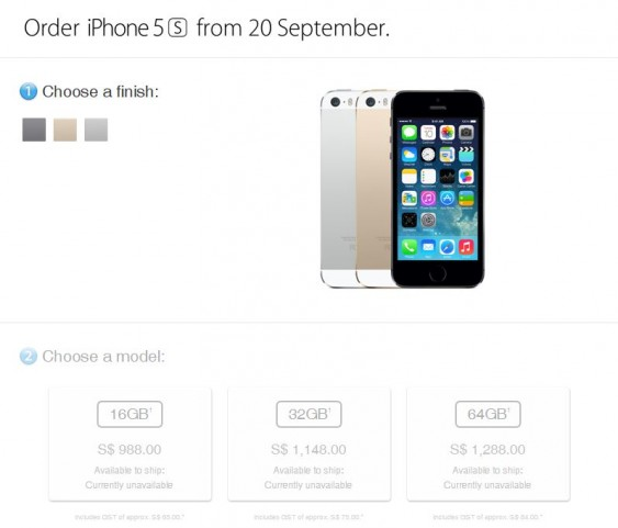 Pre-order iPhone 5S