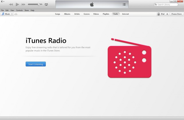 how to go to itunes radio