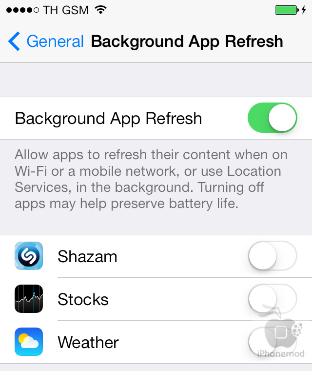 bg app refresh