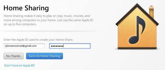 home-sharing-login