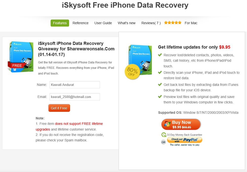 free iphone data recovery ก ไฟล บน iphone ipod touch ด วย iskysoft free 14150