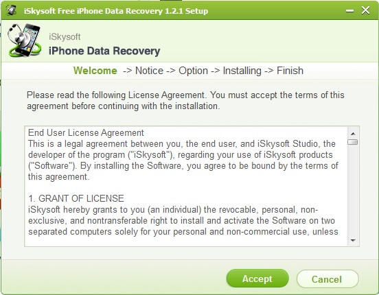 iSkysoft Free iPhone Data Recovery (2)