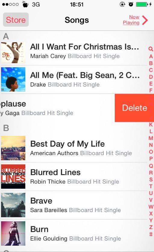 music-delete