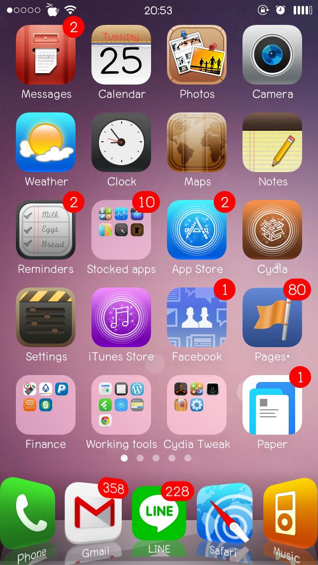 Lucerna HD Flat iOS 7