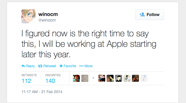 winocm with apple