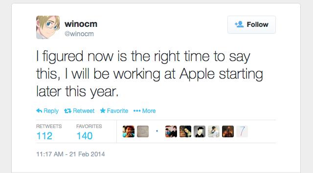 winocm with apple