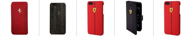 CG-mobile_Ferrari_-BookType_iPhone5s_--Wallet-Leather-Case-Red02-horz
