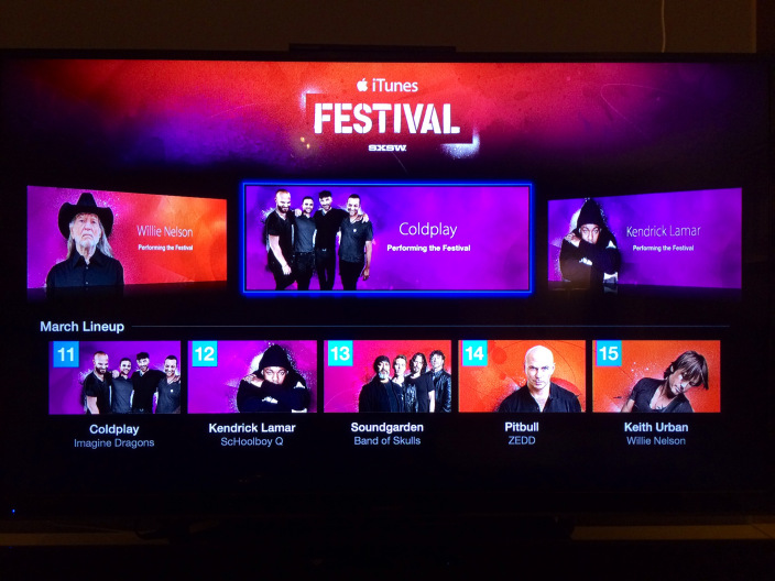 iTunes Festival SXSW apple tv