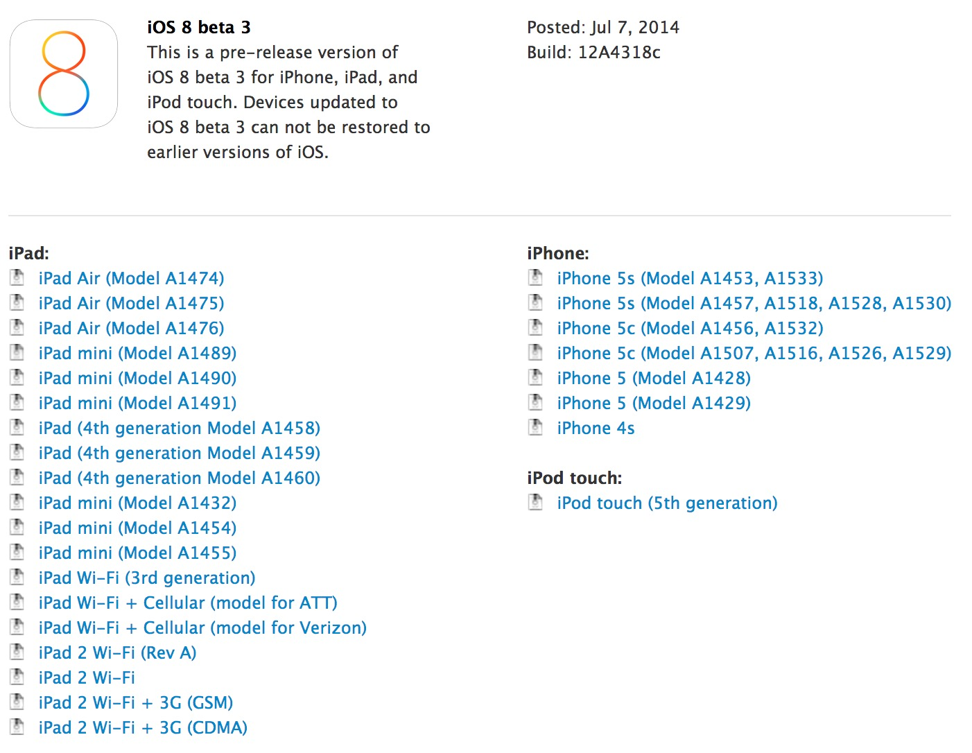 ios8beta3 released
