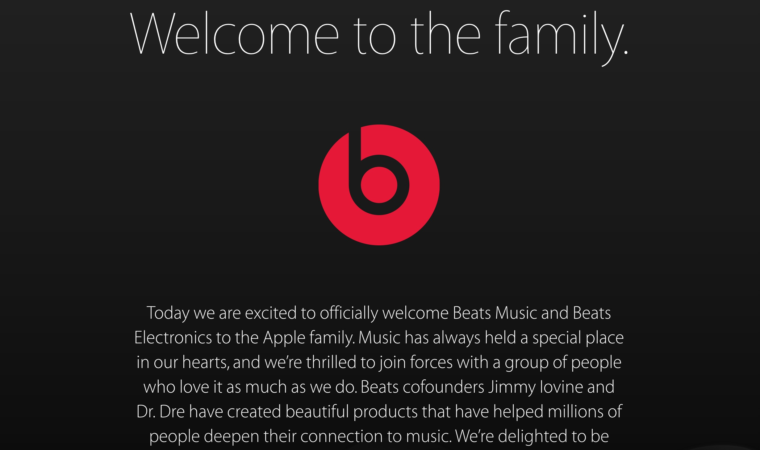 apple beats family