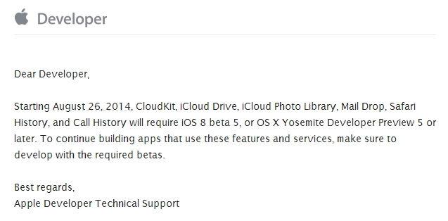 apple cloudkit warning