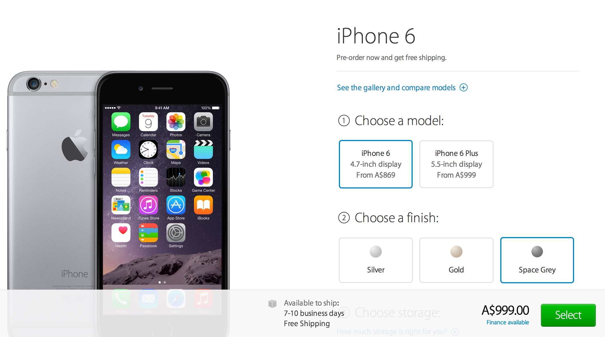 now can pre-order iphone6