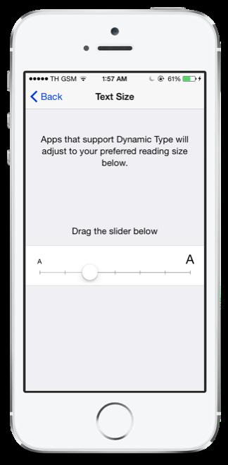 text size ios8