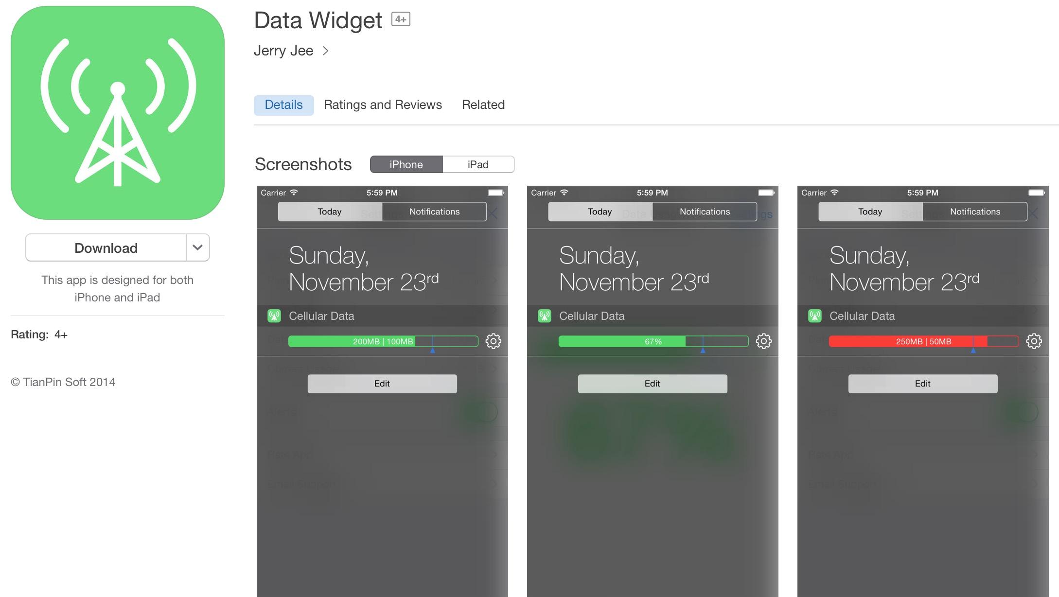 data widget