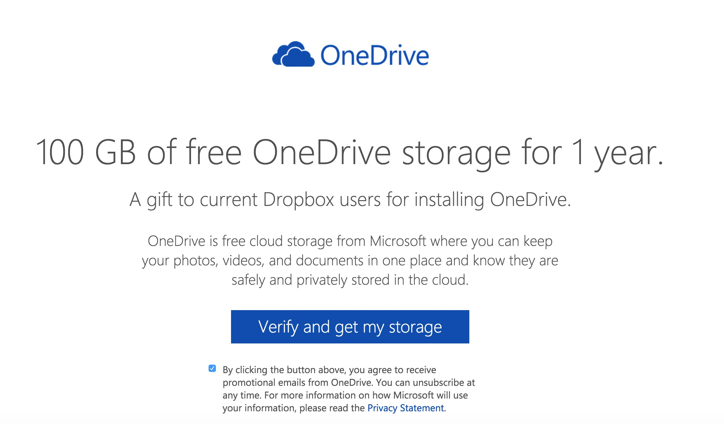 Onedrive: Microsoft Uses Dropbox as An Example