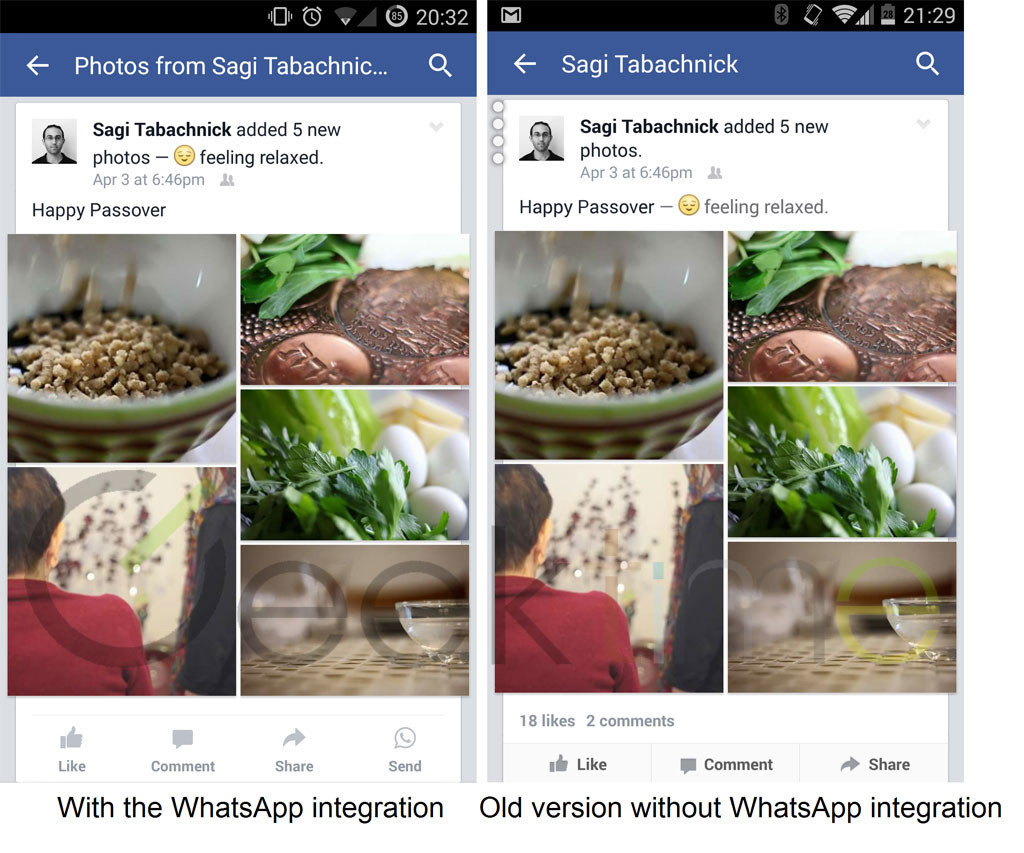 Facebook integrates WhatsApp - 1