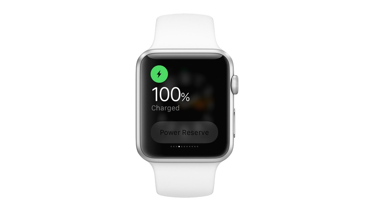 apple watch charged