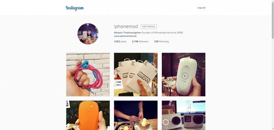 instagram อัปเดตหน้าเว็บ