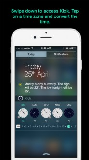Klok - Time Zone Converter Widget - 1