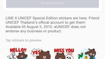 LINE-X-UNICEF-Sticker-Set