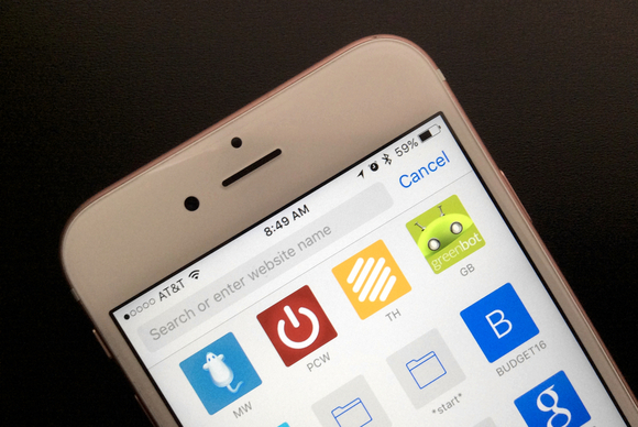 how to get google search bar on iphone