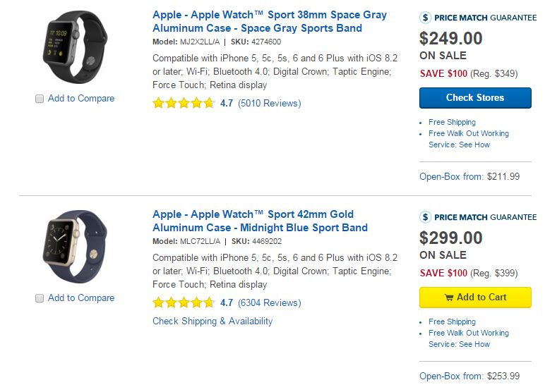 Best Buy Sale - Apple Watch
