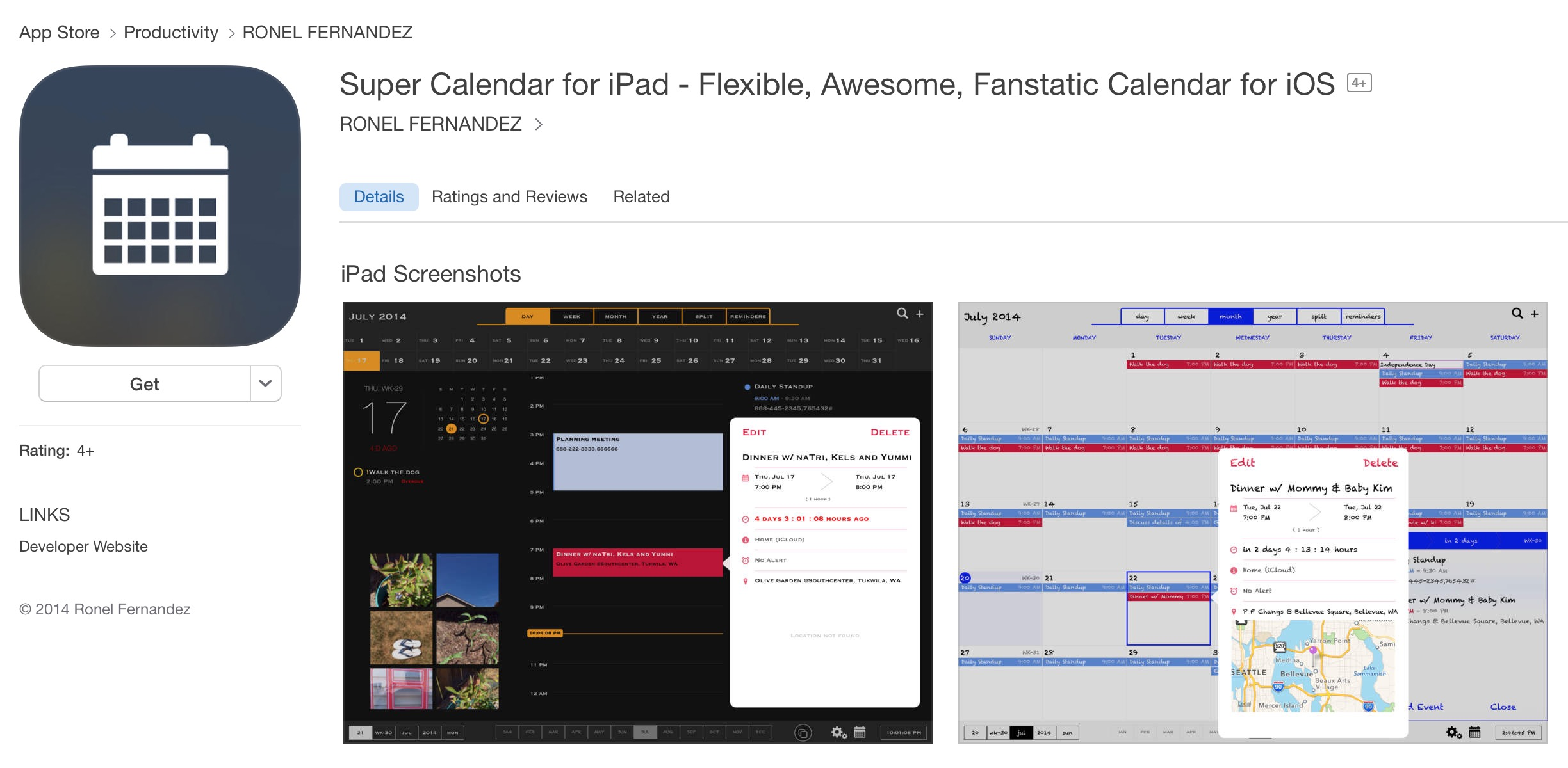 Super Calendar for iPad - Flexible, Awesome, Fanstatic Calendar for iOS