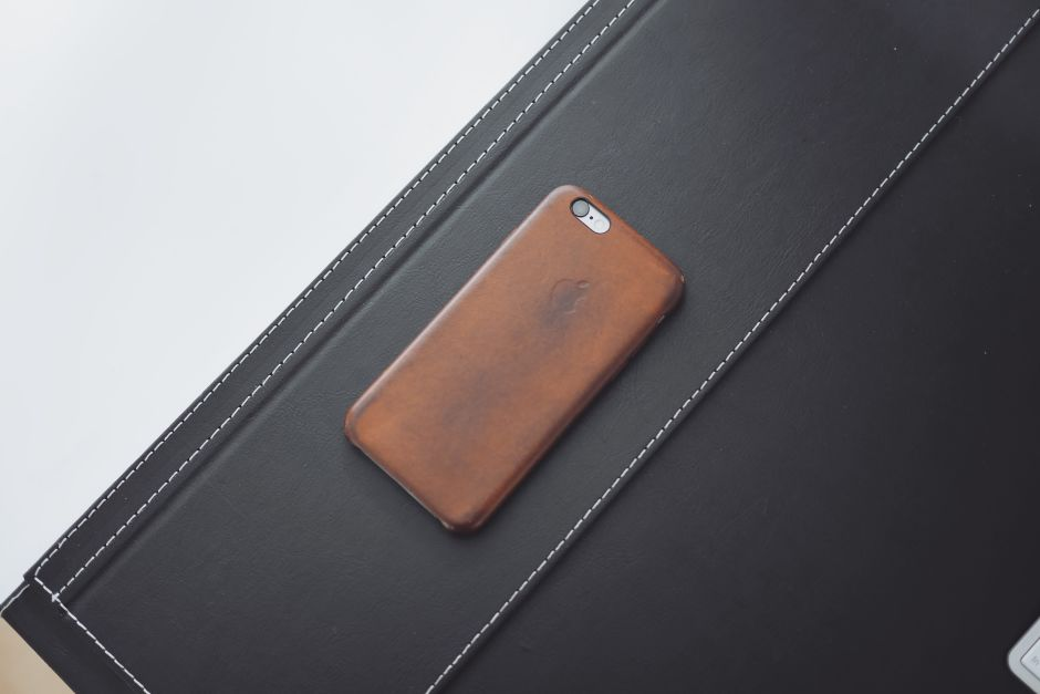 Saddle Brown Leather Case for iPhone - 8 Months Used (3)