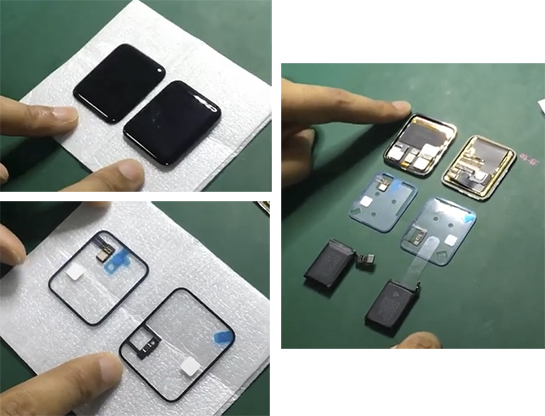Apple Watch 2 ฝั่งซ้าย, Apple Watch รุ่นเดิม ฝั่งขวา