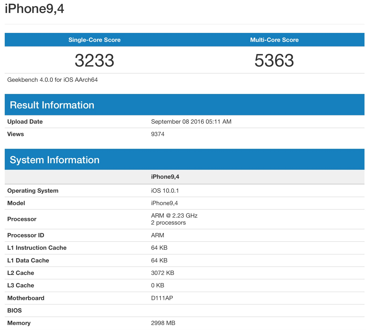 iphone 7 plus 3gb ram geekbench
