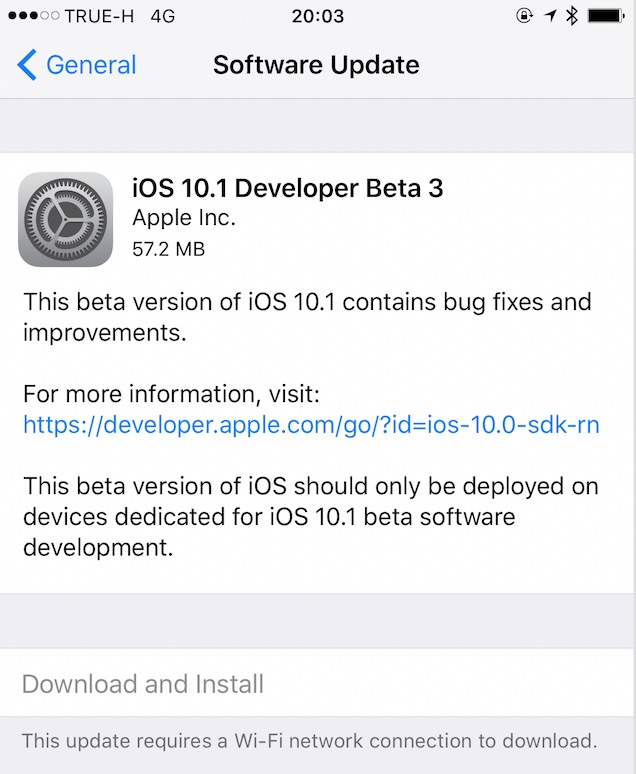 ios 10.1 dev beta 3