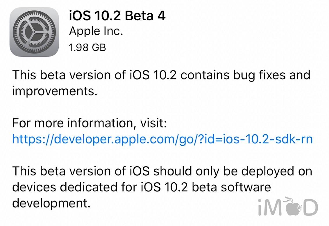 ios 10.2 beta 4 seed