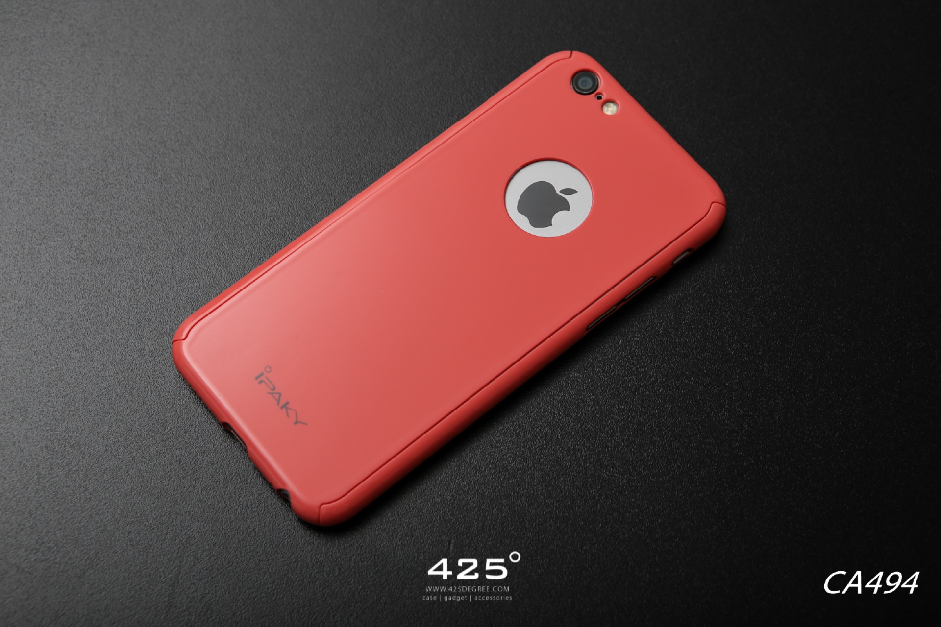 iPaky 3 in 1 ( Logo ) Pastel Case red