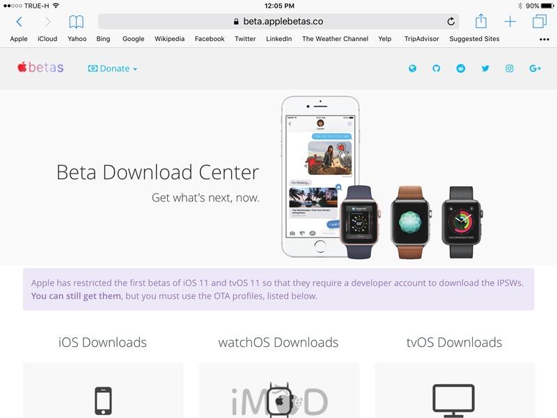 วิธีติดตั้ง iOS 11 beta