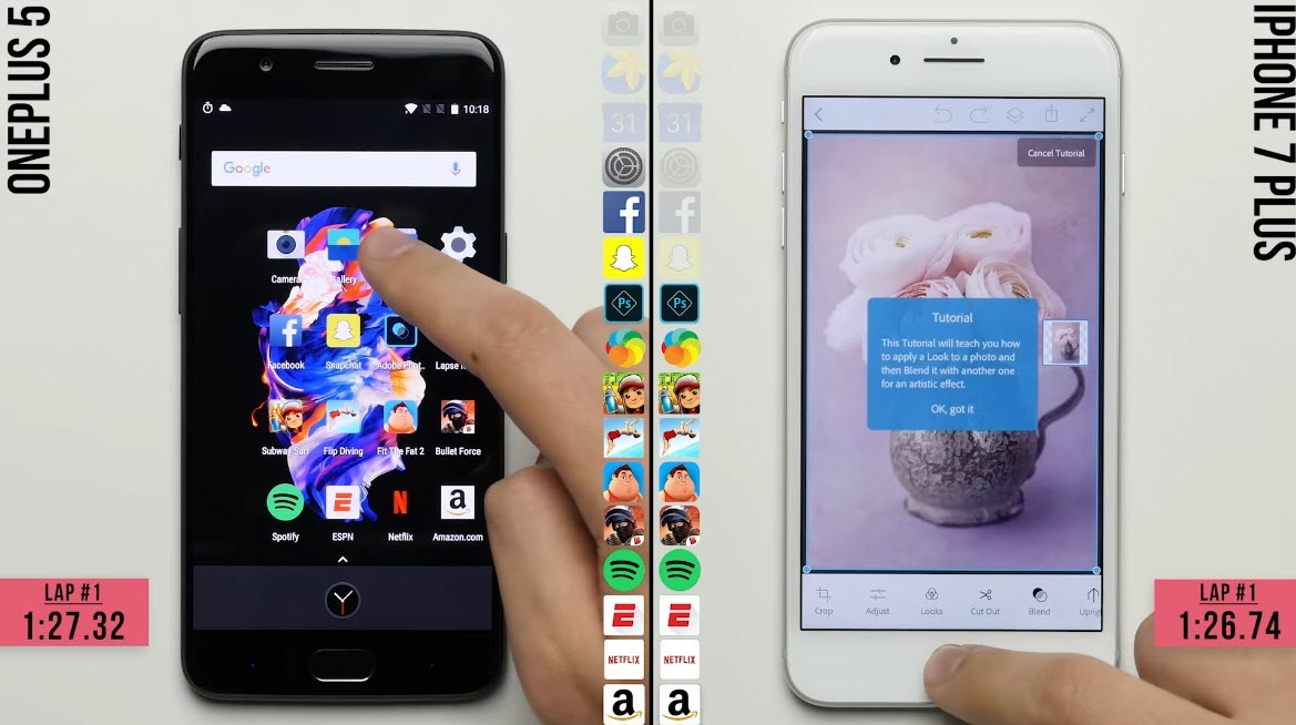 Oneplus5 Iphone7plus Speedtest 1 5 1