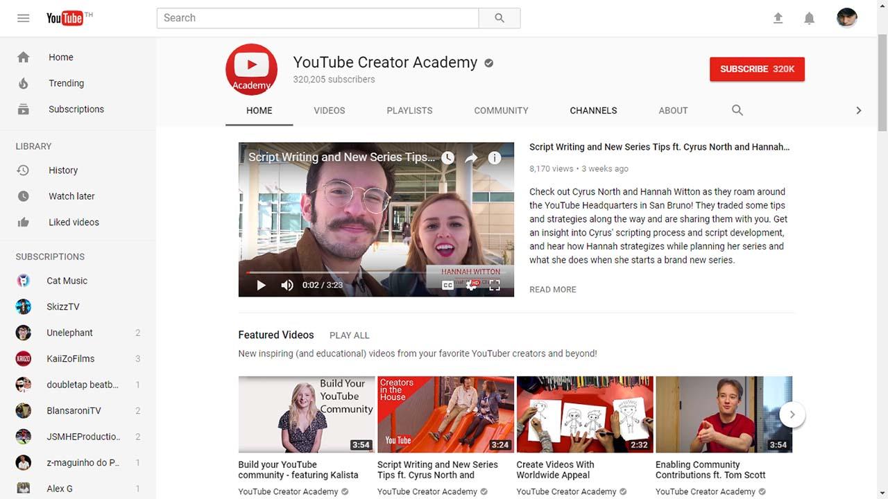 App Youtubecreatoracademy Content