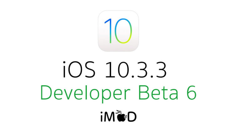 Ios10 3 3 Beta 6 Cover