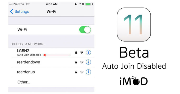 Ios11 Beta Wifi Disable