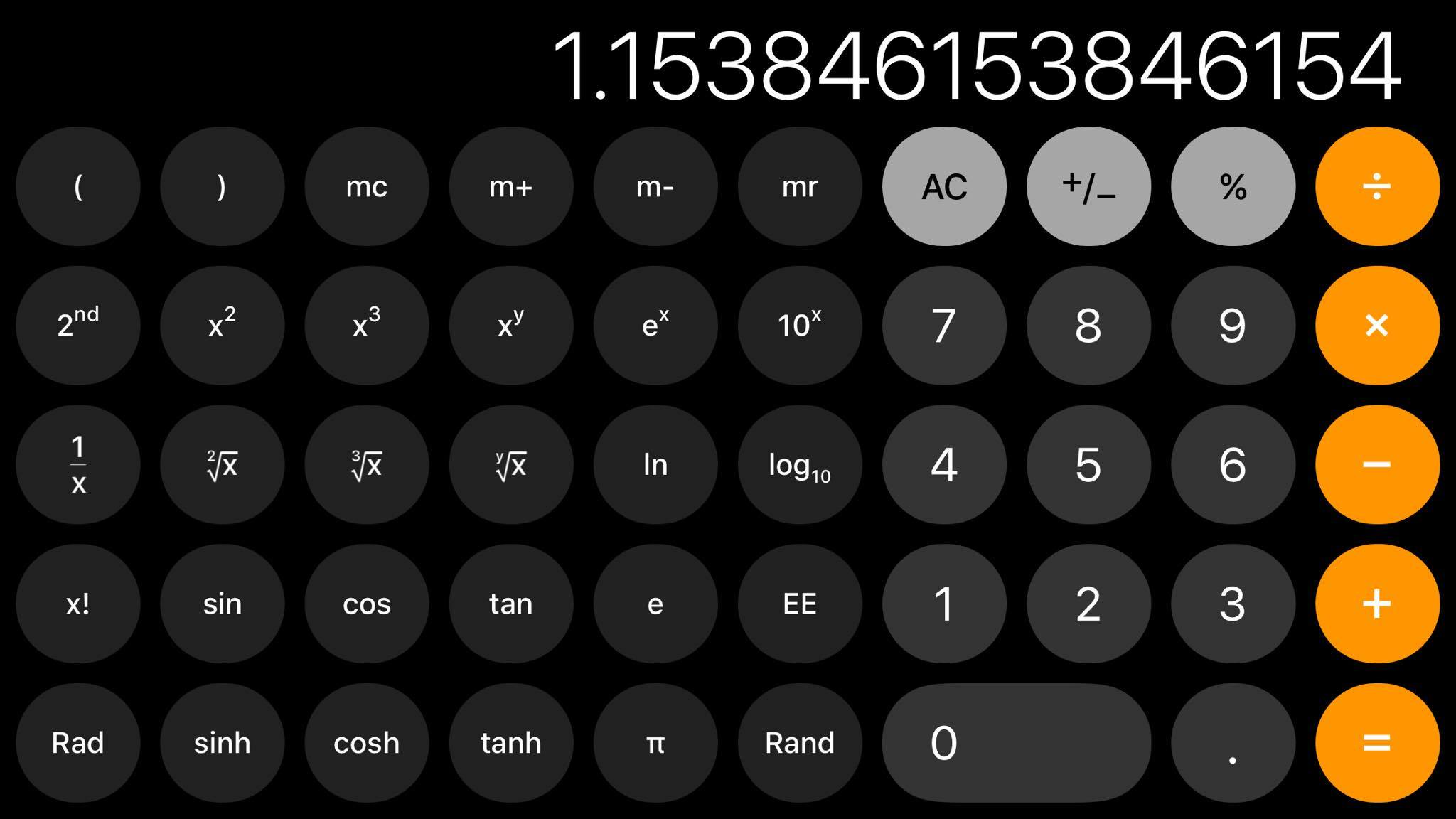 Ios11 Calculator