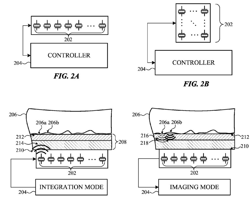 Apple Patent Ultrasonic Fingerprint Reader Drawing 001
