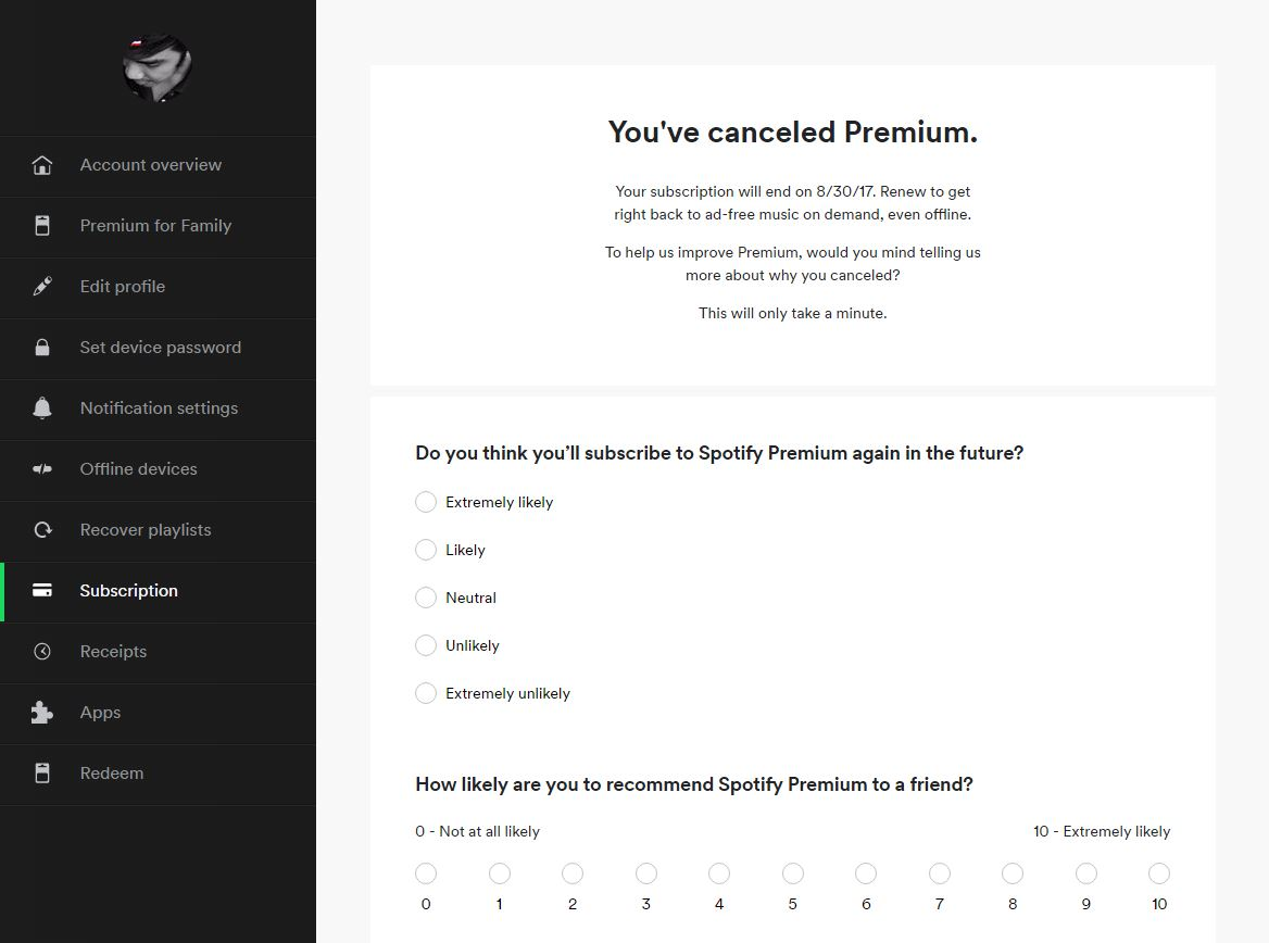 How Cancel Spotify Spotify Subscription 4