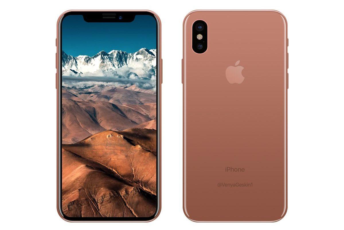 Iphone 8 Dummy Copper Renders