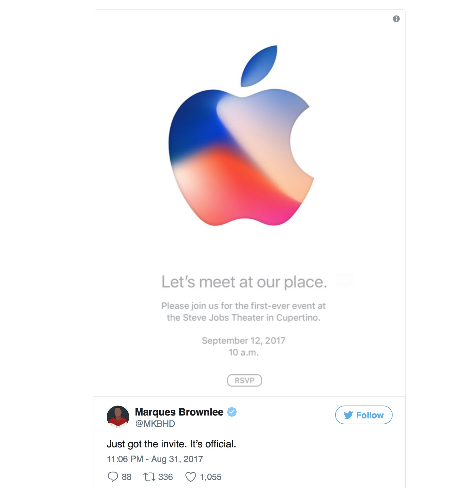 Iphone 8 Event Cconfirmed