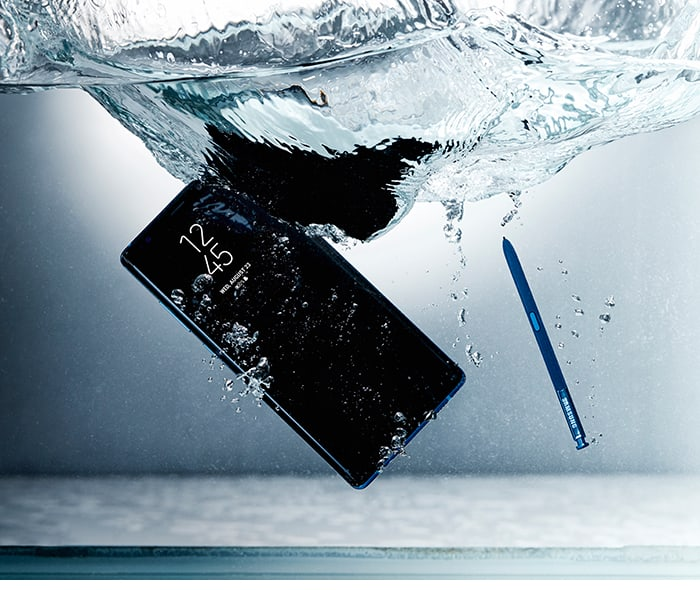 Note 8 Drop In Water