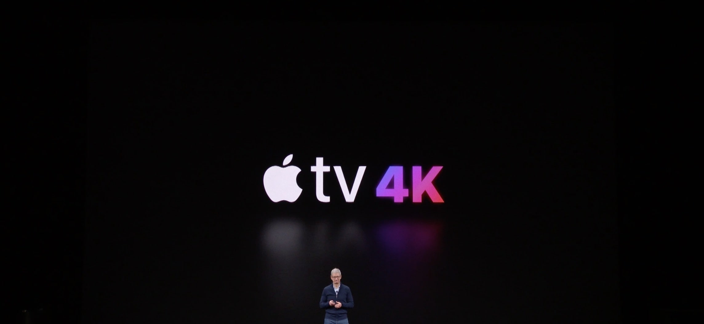 Apple Tv 4k Tim Cook On Stage
