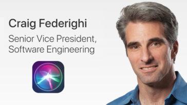 Craig Federighi Siri