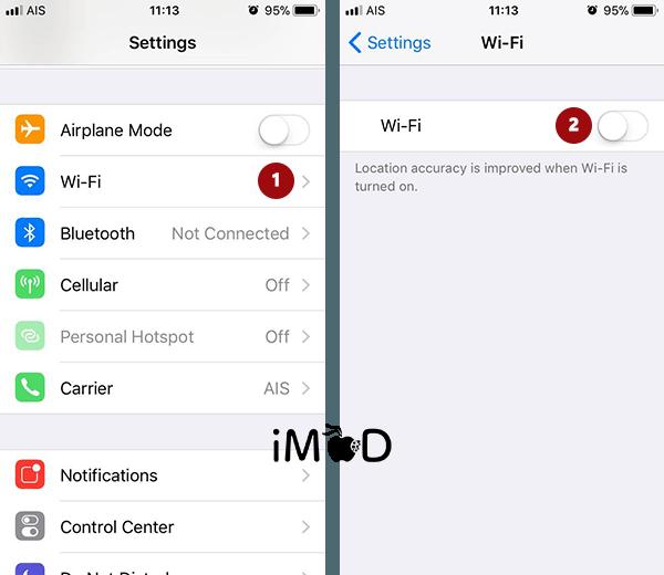 How To Close Wi Fi Auto Ios 11 2