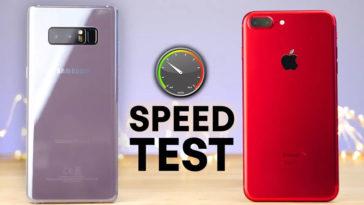 Note 8 Vs Iphone 7 Plus Speed Comaparison
