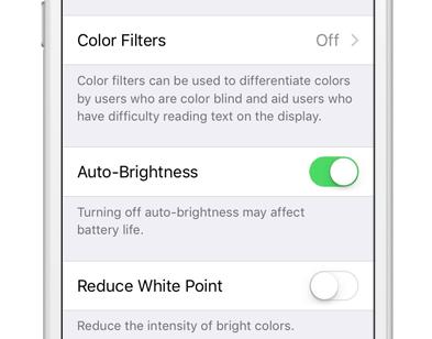 Accessibility Color Auto Brightness